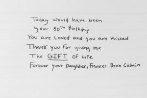 """Frances menambahakan """"February 20th 2017. Happy Birthday"""" sebagai caption di foto ini."""